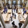 Franse Apple Stores door rechter op vingers getikt