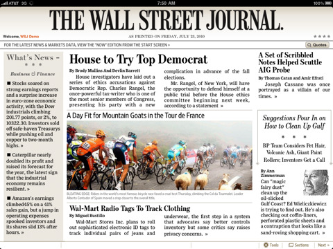 Flinke update voor Wall Street Journal app