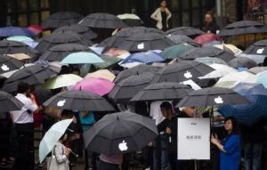 Chinezen in de rij voor iPad