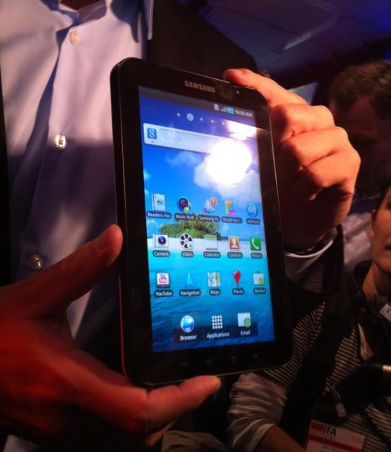 Samsung Galaxy Tab gepresenteerd