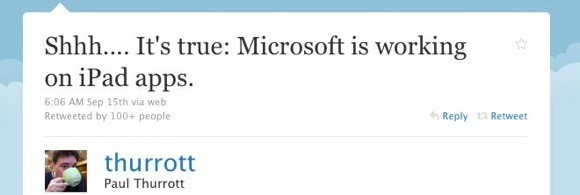 Echt waar: Microsoft ontwikkelt iPad apps