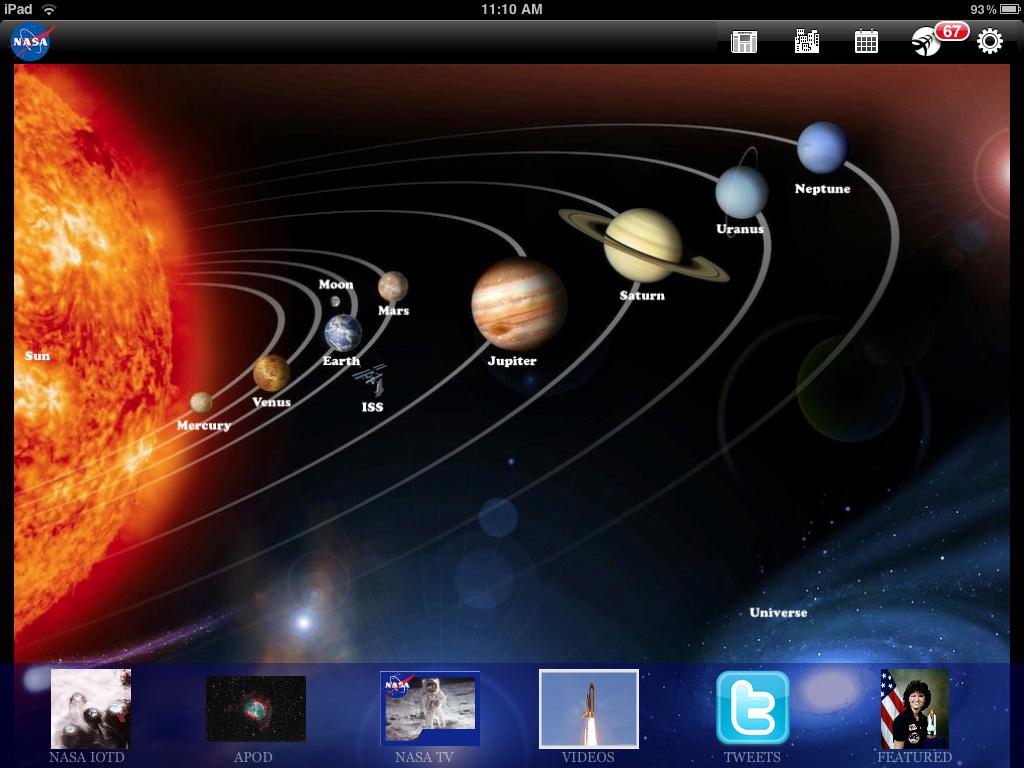 Gratis de ruimte in met NASA