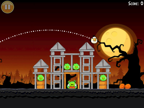Angry Birds in Halloween stijl