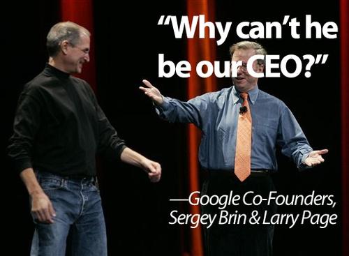 Google wilde Steve Jobs als CEO