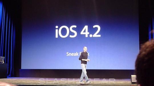 iOS 4.2 verwacht op 7 november ?
