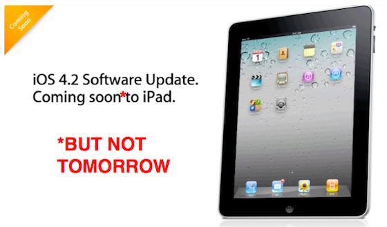 Breaking: iOS 4.2 wellicht uitgesteld door iPad WiFi probleem