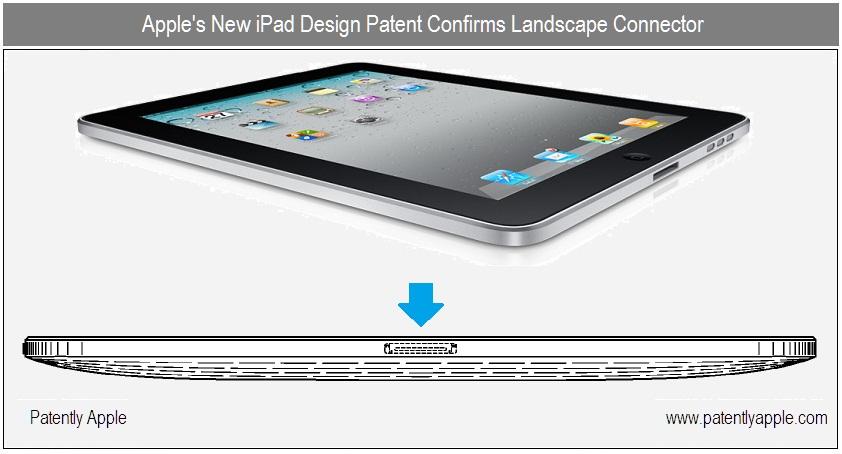 Nieuw patent Apple bevestigt iPad 2 Landscape Dockconnector