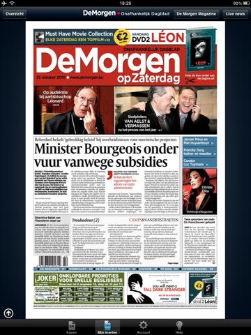 Belgisch Dagblad de Morgen in App Store