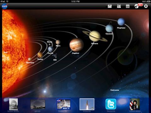 Update: NASA App HD met meer planeten