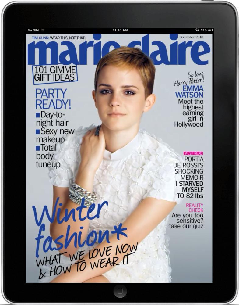 Tijdschrift Marie Claire nu ook op iPad