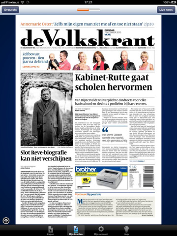 Volkskrant for iPad in App Store [UPDATE]