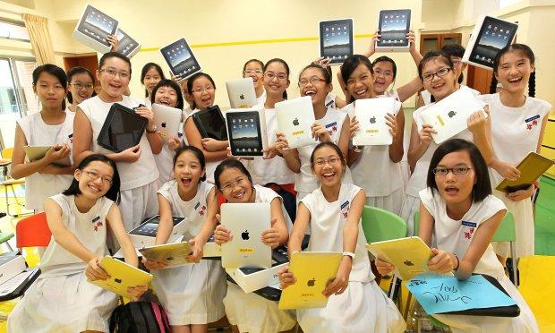 Kinderen in Singapore krijgen gratis iPad van school