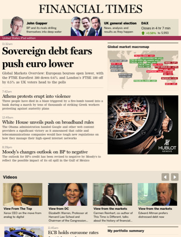 Update: Financial Times for iPad nu nog beter