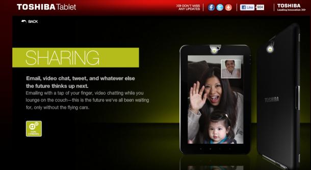 Toshiba maakt iPad gebruikers belachelijk