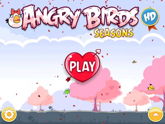 Screenshots Angry Birds HD Valentines Edition duiken op