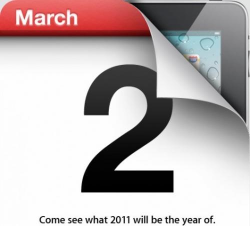 BREAKING – Het is officieel: iPad 2 introductie op 2 maart 2011!