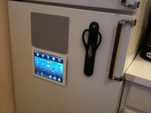SmartCover iPad 2 ook geschikt voor koelkast