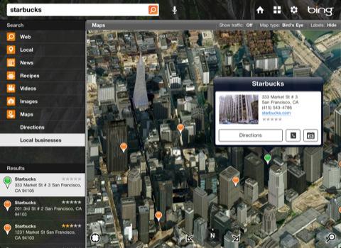 Microsoft brengt Bing app voor iPad