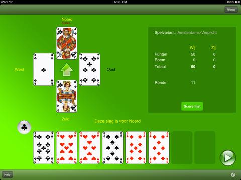 Potje Klaverjassen met Klaverjas HD voor iPad