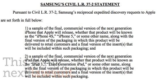 Samsung eist inzage in iPad 3 en iPhone 4S/5