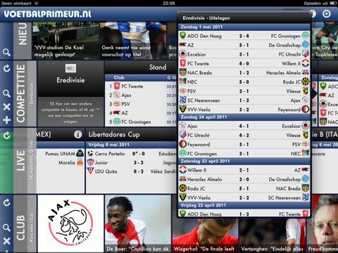 Voetbalprimeur app for iPad nu beschikbaar