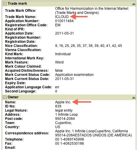 Apple registreert iCloud merknaam in Europa