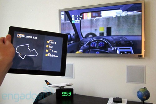 Hands on met Real Racing 2 HD Airplay Mirroring iOS 5