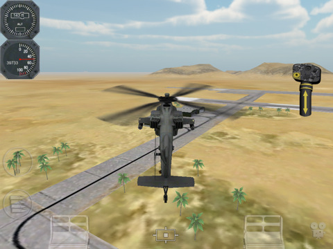 Apache AH-64 simulatie game voor iPad