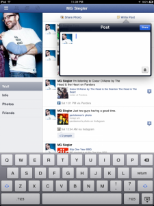 Facebook blokkeert login iPad app