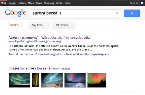 Google update zoek pagina voor iPad