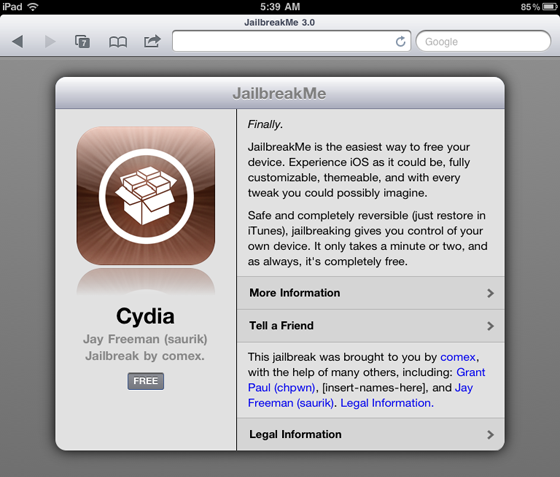 Breaking: Jailbreak voor iPad 2 nu geschikt voor iOS 4.3.3.