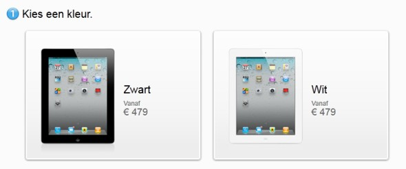 Apple update iPad bestelpagina in Apple Store