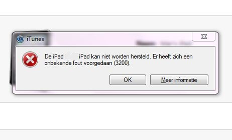 Problemen met iOS5 update: 'Error 3200' -> De oplossing