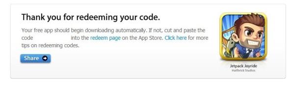 Jetpack Joyride gratis als je de App Store 'liked' op FB