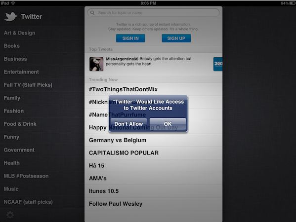 Update Twitter iOS app