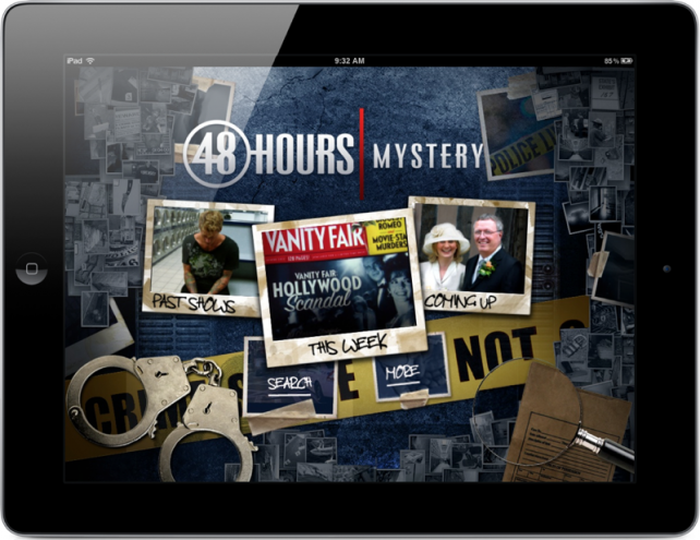 Amerikaanse hit crimeserie 48 Hours krijgt iPad app