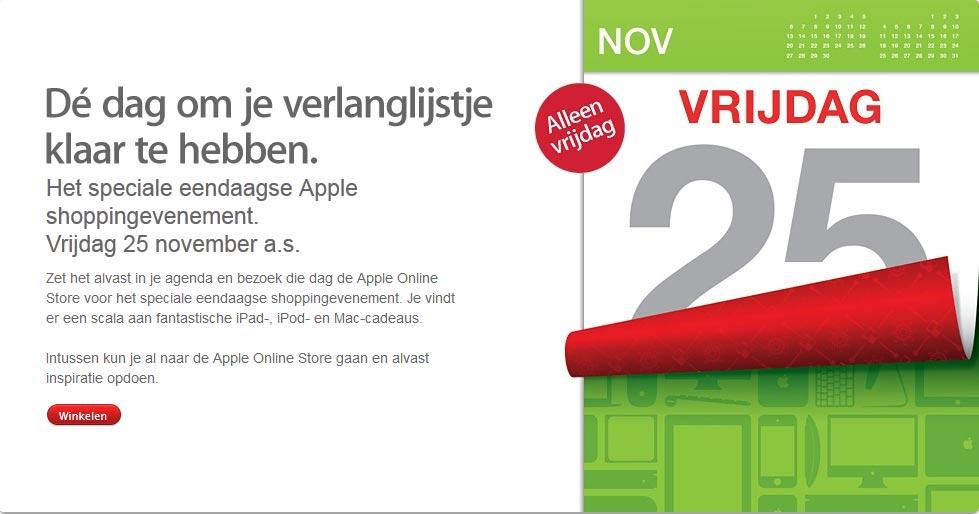 Noteer maar vast: Aanstaande vrijdag fikse korting op Apple producten!