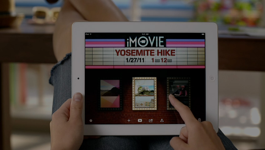 iPad gebruiker kijkt vaker en langer naar video's