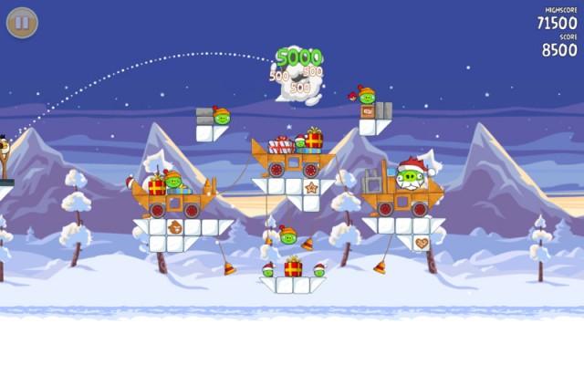 Angry Birds update met 25 nieuwe kerstlevels