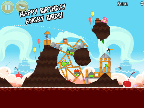 Angry Birds zijn jarig en unlocked all haar levels!