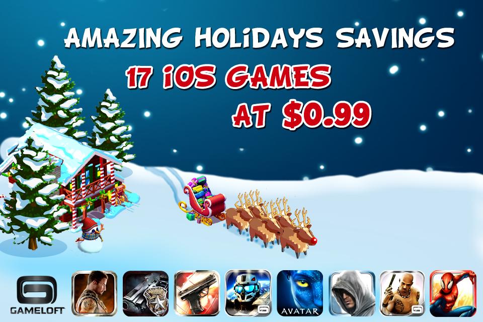 Grote sale: Veel Gameloft iPad games tijdelijk €0,79