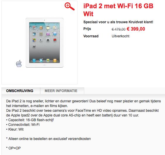 Kruidvat iPad 2 actie: UITVERKOCHT!