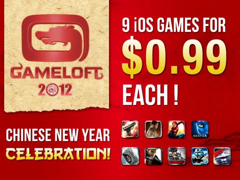 Gameloft Sale: 7 iPad games fors in prijs verlaagd