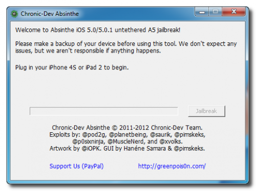 Greenpois0n Absinthe nu ook voor Windows geschikt