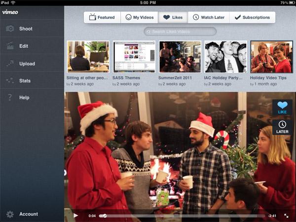 Binnenkort: Videodienst Vimeo komt met iPad app