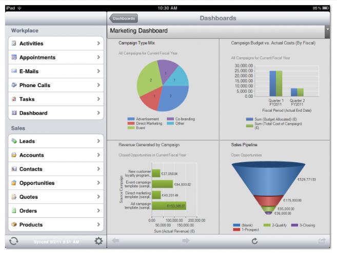 Klantengegevens beheren met Microsoft Dynamics op iPad