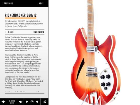 Nieuw voor de iPad 'George Harrison: The Guitar Collection'