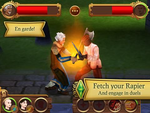 The Sims: Medieval voor iPad uitgebracht door EA Mobile