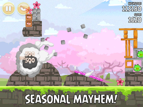 Kersenbloesem festival update voor Angry Birds Seasons HD