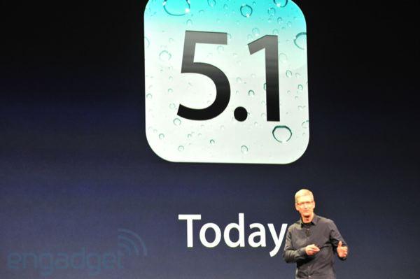 iOS 5.1 verschenen voor iPad 1 en iPad 2